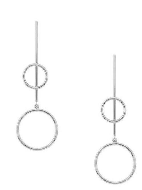 Silhouette Drop Earrings - Silver
