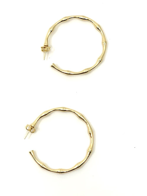 Bamboo Hoops- Gold