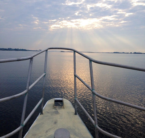 View from the bow of the Emrald Coast Charter Boat in Pensacola Florida