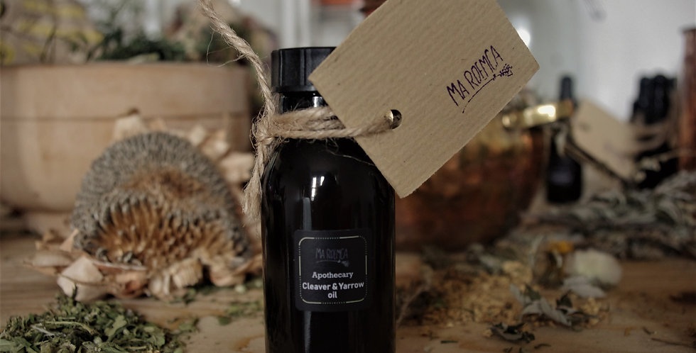 Cleaver and yarrow oil