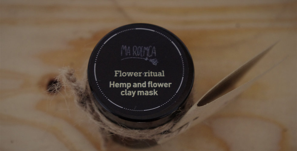 Hemp and flower clay mask