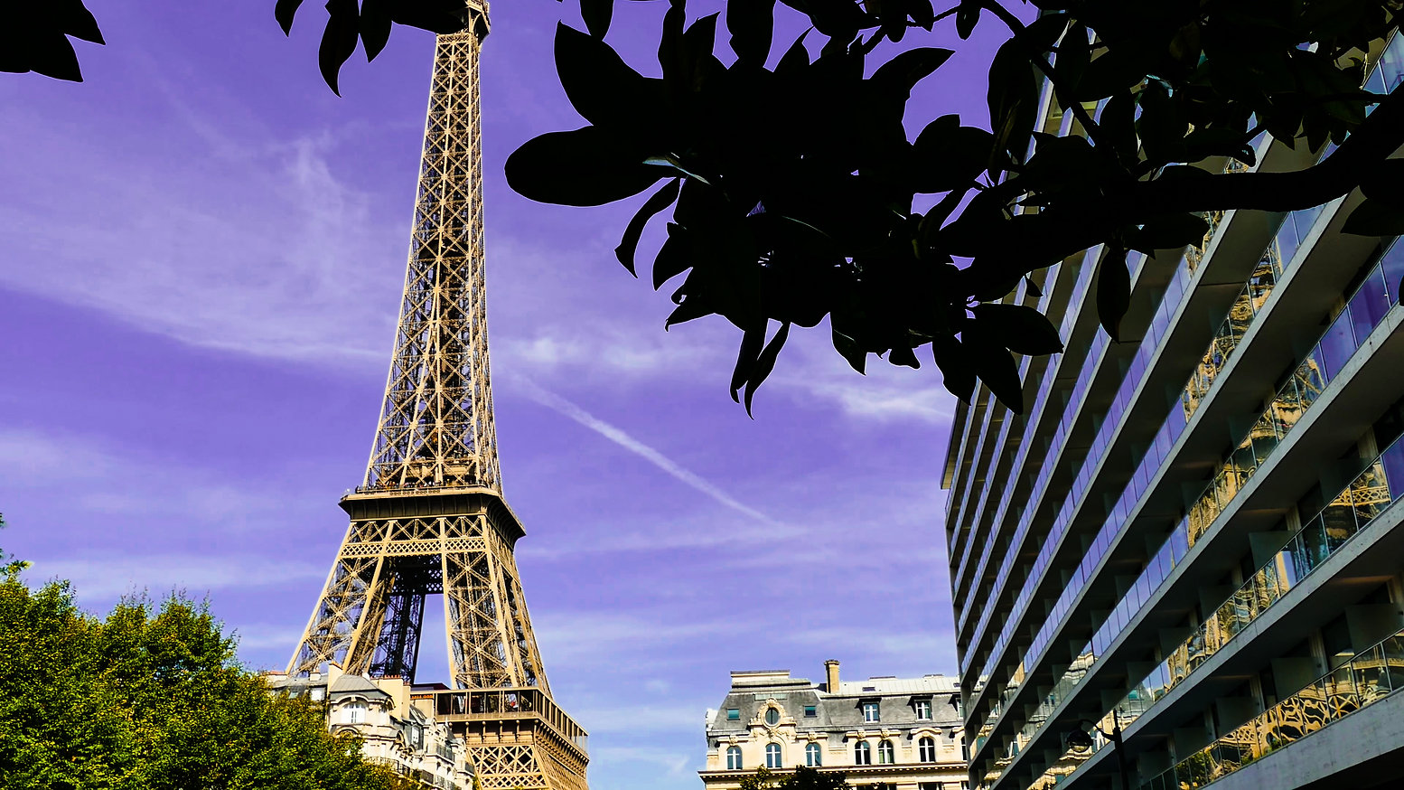 Beautiful view of famous Eiffel Tower in