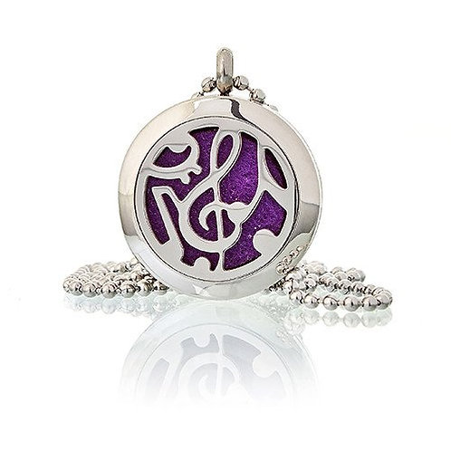 Aromatherapy Diffuser Necklace - Music Notes 25mm
