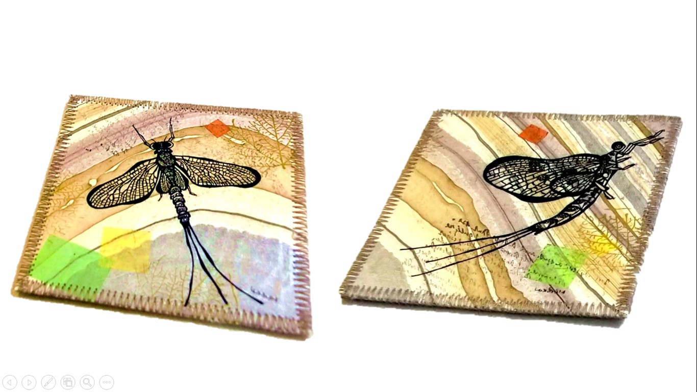 Mixed Media - Mayfly coasters 2pc