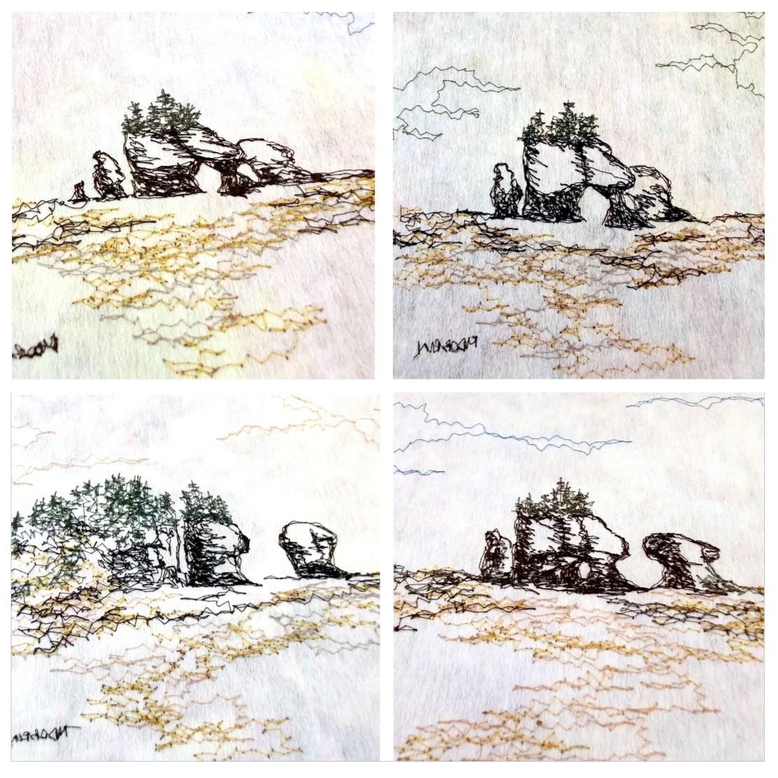 Stitched backs - Hopewell Rocks
