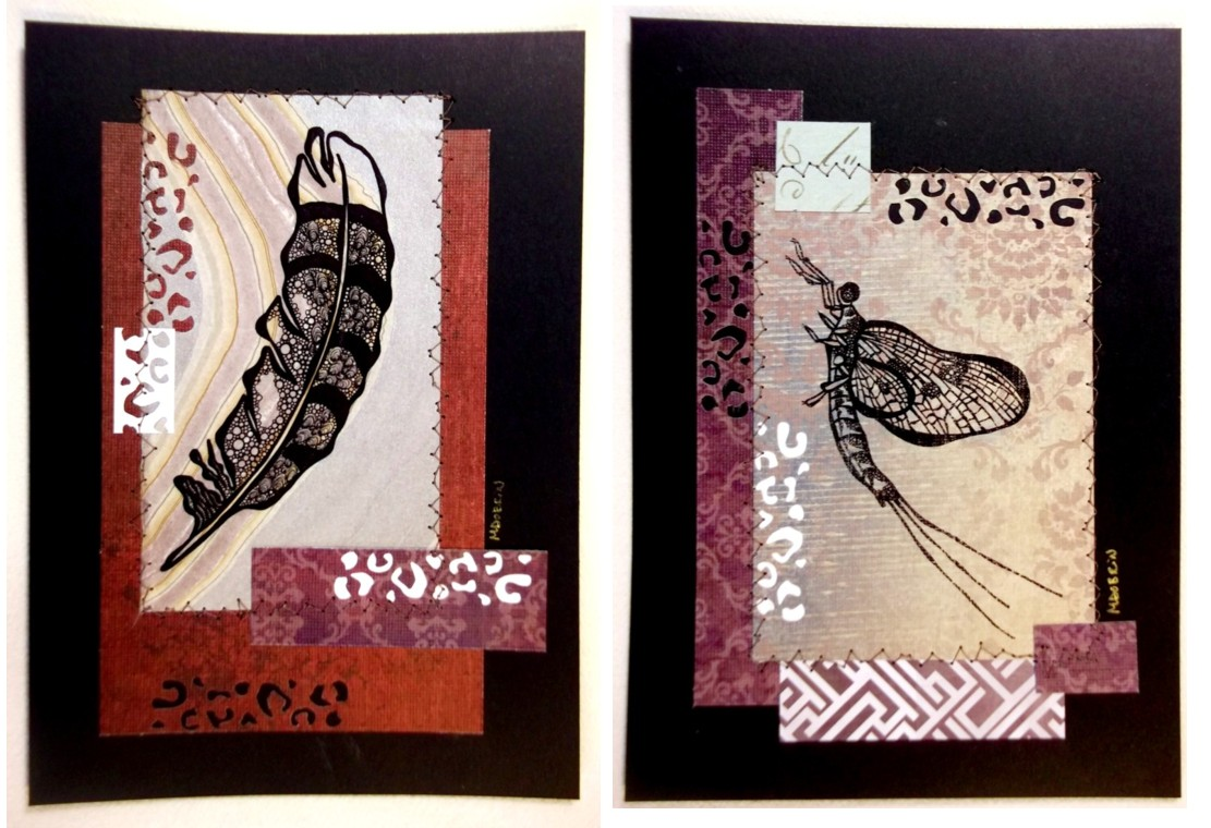 "Stitched prints ""Nature Tidings"""
