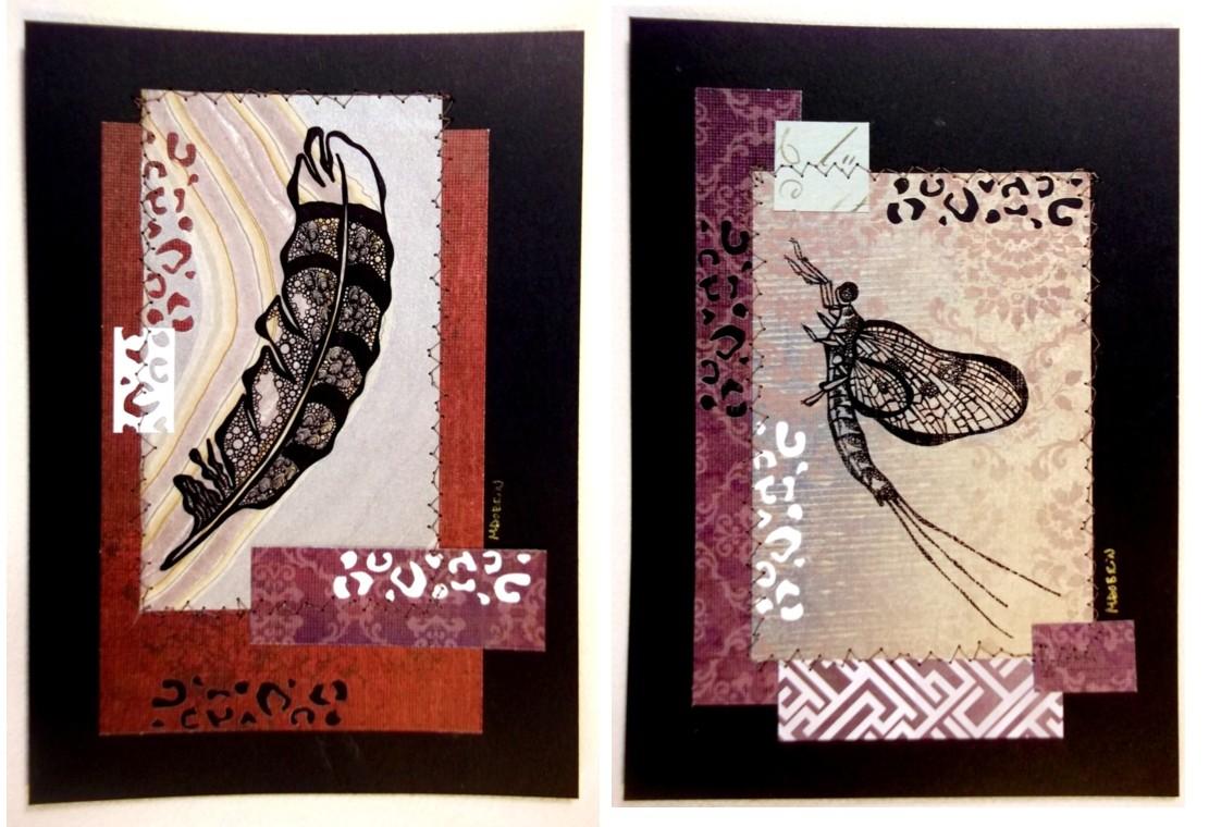 "Stitched prints ""Nature Tidings"""