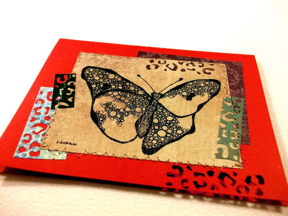 Nature Tidings stitched card