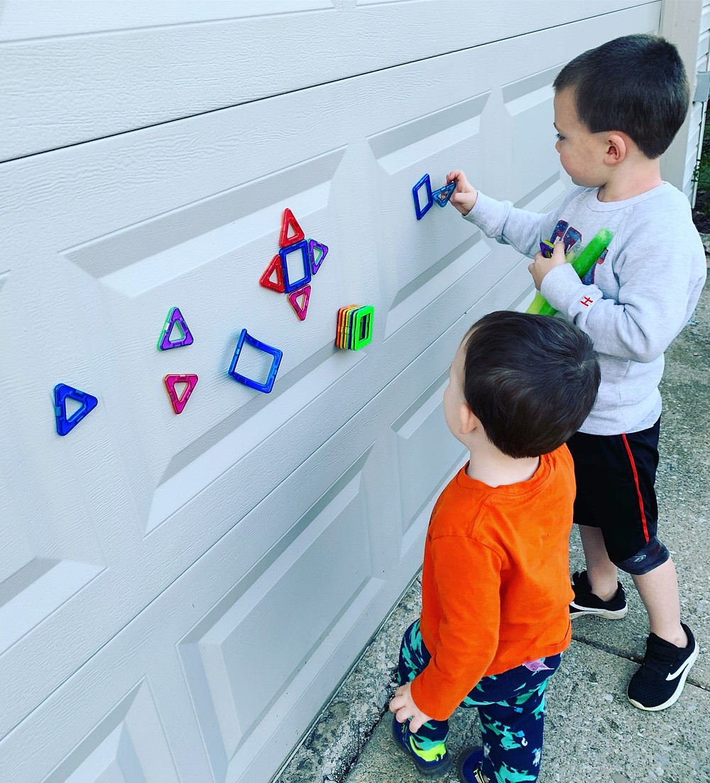 Play with magnets on your garage door!