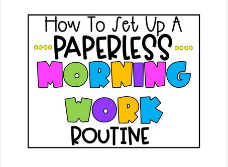 STEM Based Paperless Morning Work!