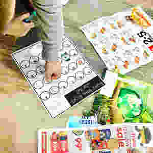 Have your child go on a letter hunt using old junk mail.