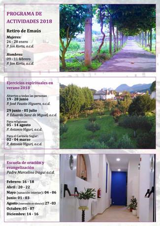 Casa de Espiritualidad de Larrea. Programa 2.018