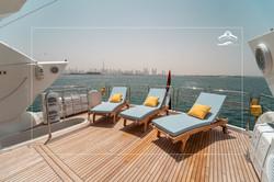 Flybridge Stern Sunbathing Area