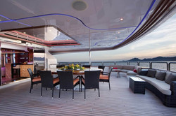 Stern Dining Area