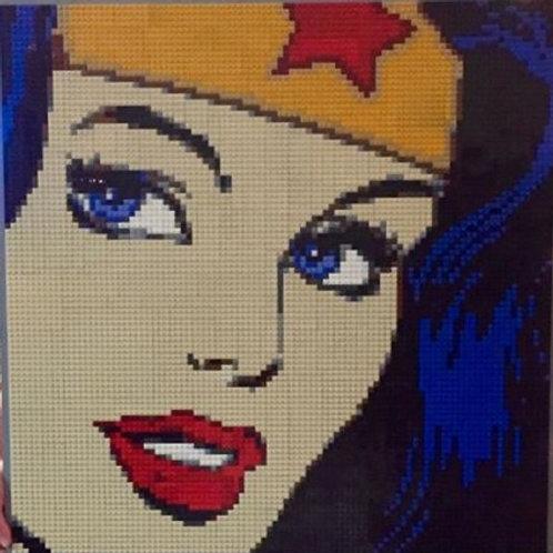 """WonderWoman  (30""""W x 30""""H)"""