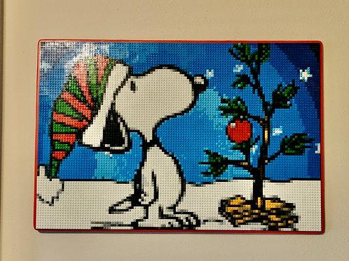 """Snoopy Xmas  (36""""W x 24""""H)"""