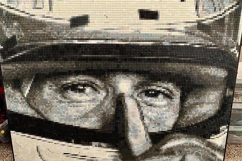 """Aryton Senna (36"""" x 48"""")"""