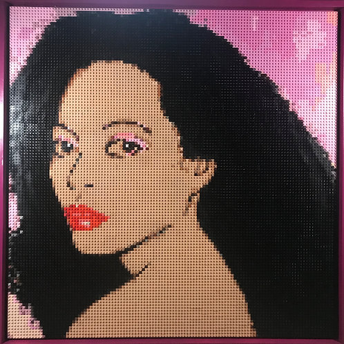 """Diana Ross  (36""""W x 36""""H)"""