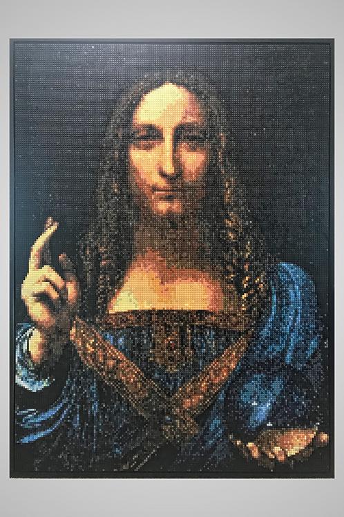 "Salvator Mundi          (53""W x 72""H)"