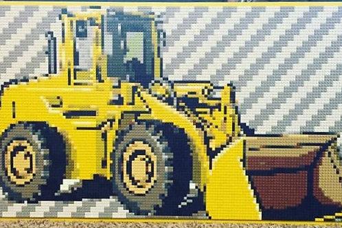 "Bulldozer (48""W x 24""H)"