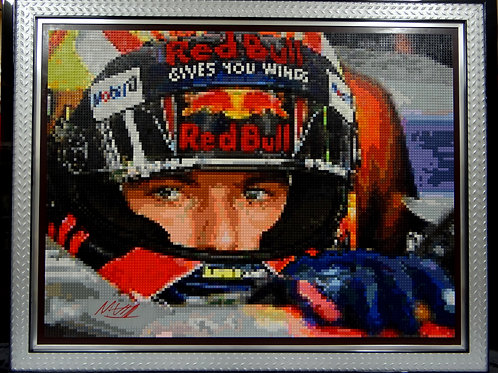 "Max Verstappen, signed - Red Bull F1 (48""W x 36""H)"