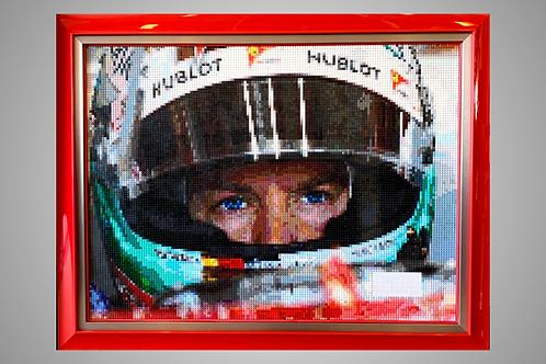 "Sebastian Vettel - Ferrari F1 (48""W x 36""H)"
