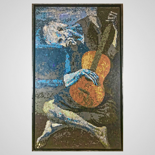 """The Old Guitarist (36""""W x 60""""H)"""