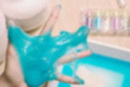 Blue Glitter Slime