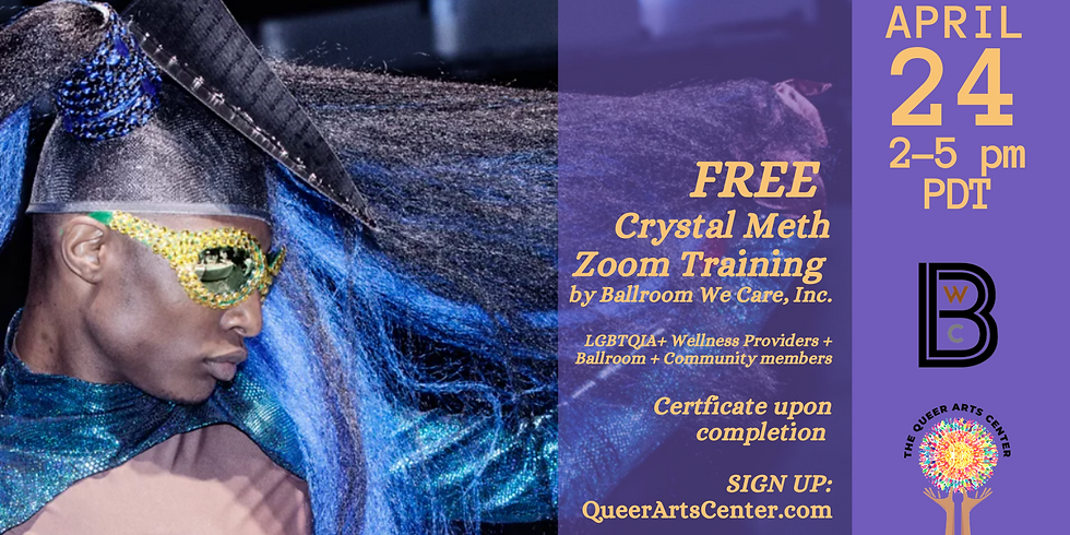 FREE! Ballroom We Care, Inc. Crystal Meth Training