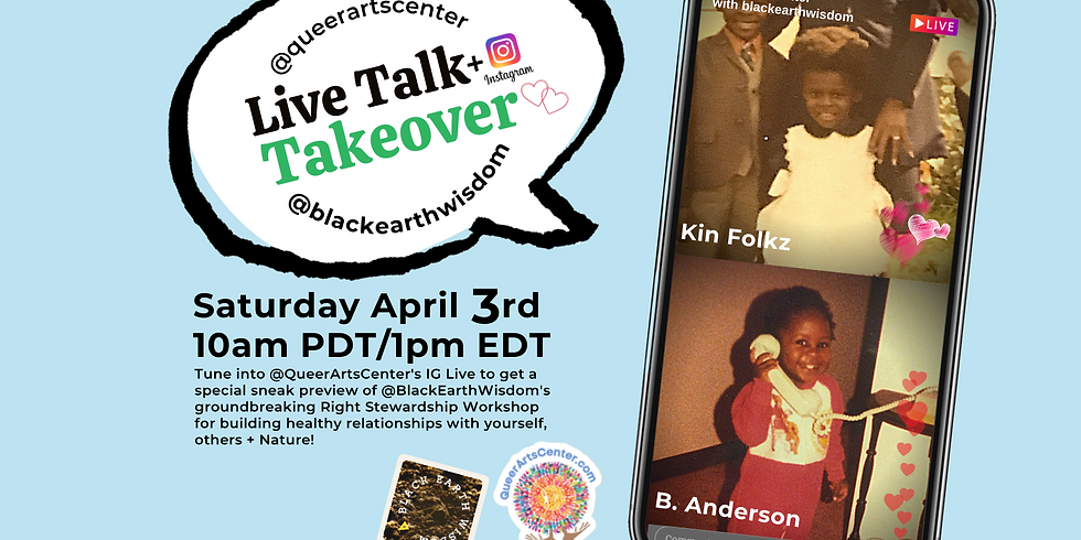 IG Live Talk + Takeover with Black Earth Wisdom