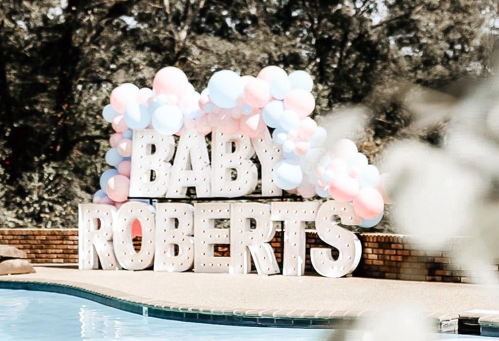 Alpha-Lit Baby Shower