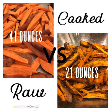 Tracking raw VS Cooked