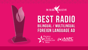 The Colibri Collective Wins National Award for Latinos Vote! Radio Ad with People for American Way