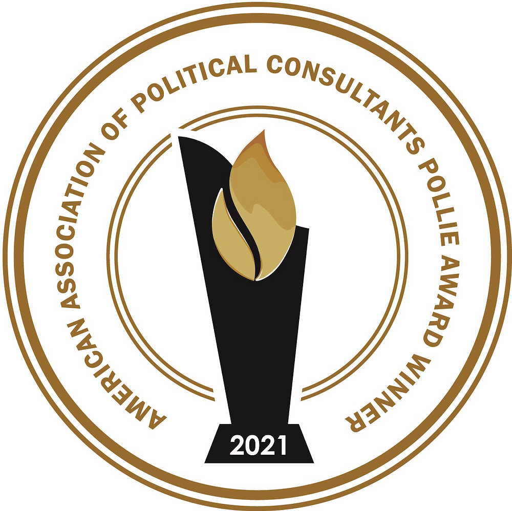 2021 American Association Of Political Consultants Pollie Award Winner
