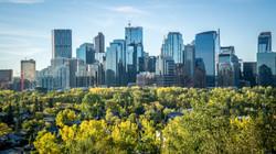 Calgary Downtown Skyline at Morning