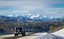 Winter Mountain Road in Alberta