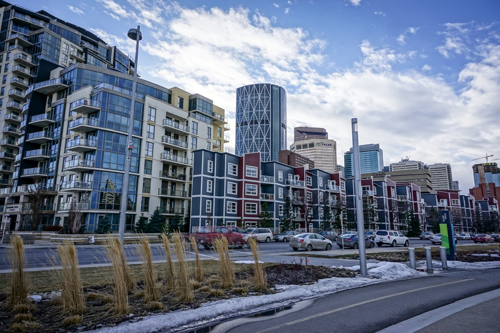 Calgary Downtown Bicycle pathway