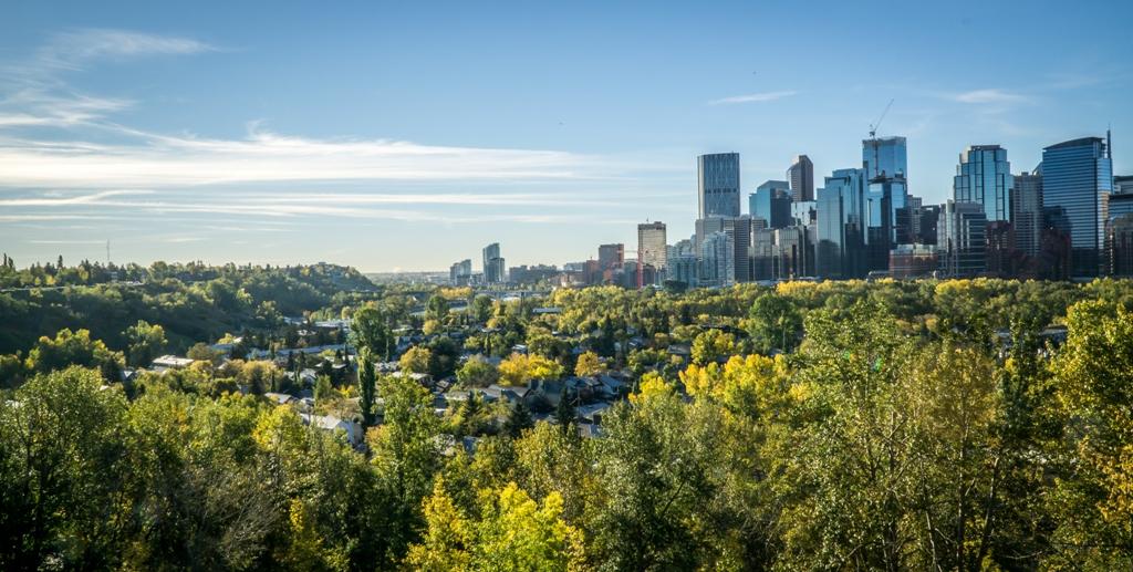 Calgary Downtown at Summer Morning
