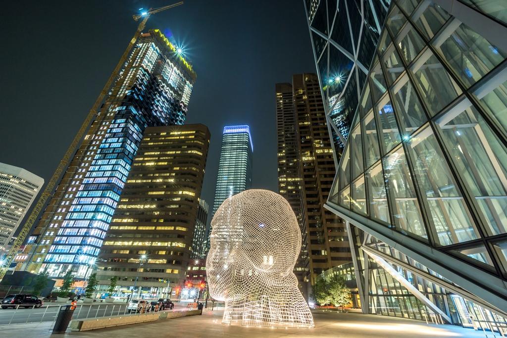 Calgary Downtown at Night