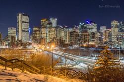 Calgary Winter Night