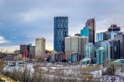 Calgary Downtown at Winter