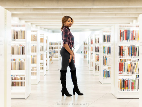 Lifestyle photoshot in Calgary Central Library