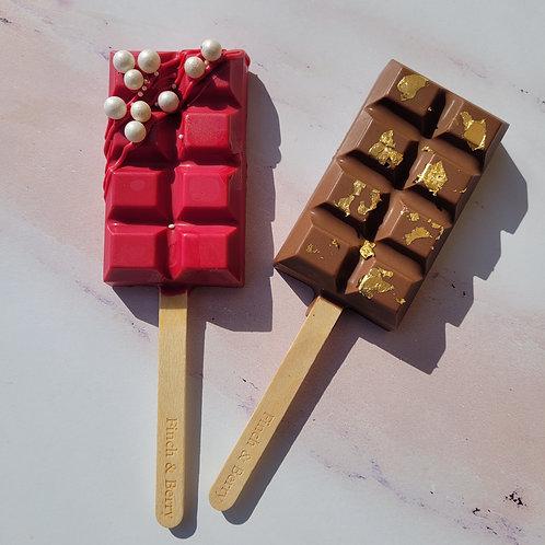 Handmade chocolate bar cakepop