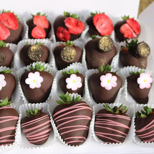 20 Chocolate Covered Strawberries
