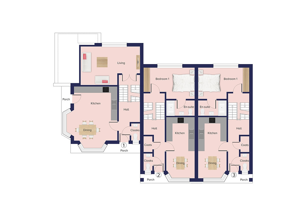 The Old Post Office ground floor plan