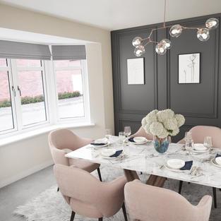 Dining room digital dressing CGI
