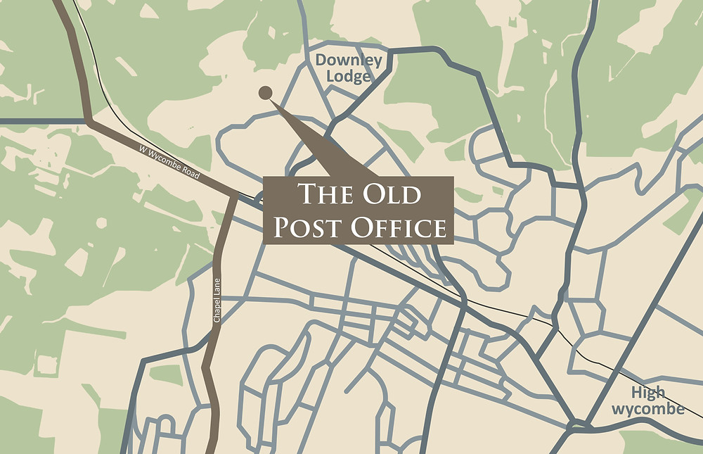 The Old Post Office map