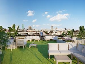 CGI garden rooftop