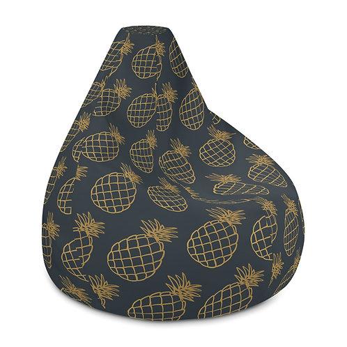 Juna Navy & Gold Bean Bag Chair w/ filling