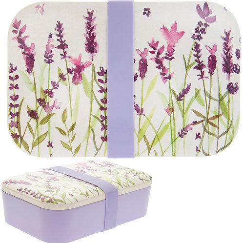 Purple Lavender Bamboo Bento Box